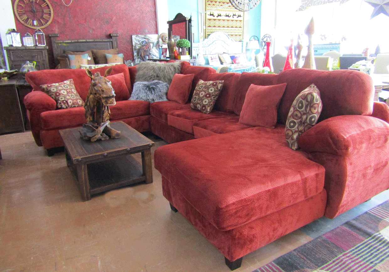 Jamba sectional-red