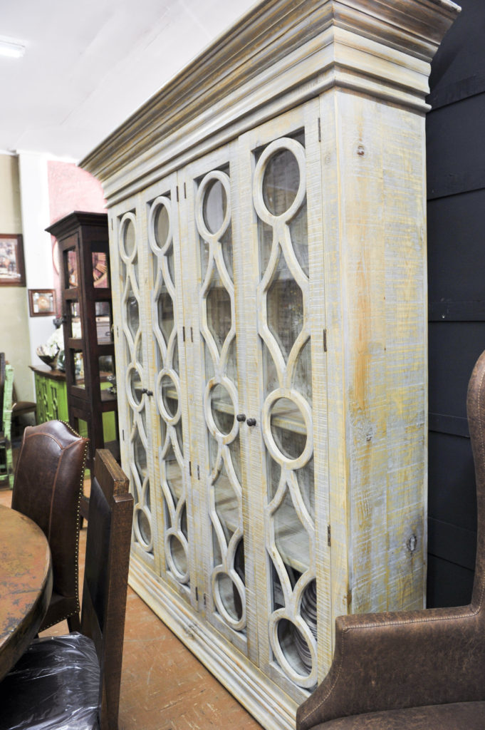 F4 China cabinet reclaimed wood one-of-a-kind