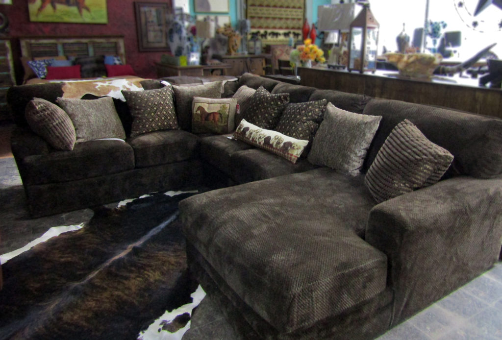 Mammoth Sectional, chocolate fabric