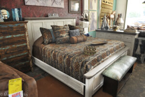 Rustic Distressed-style Bed